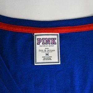 PINK Victoria's Secret Tops - Victoria Secret V-neck Rangers Tshirt SZ: M